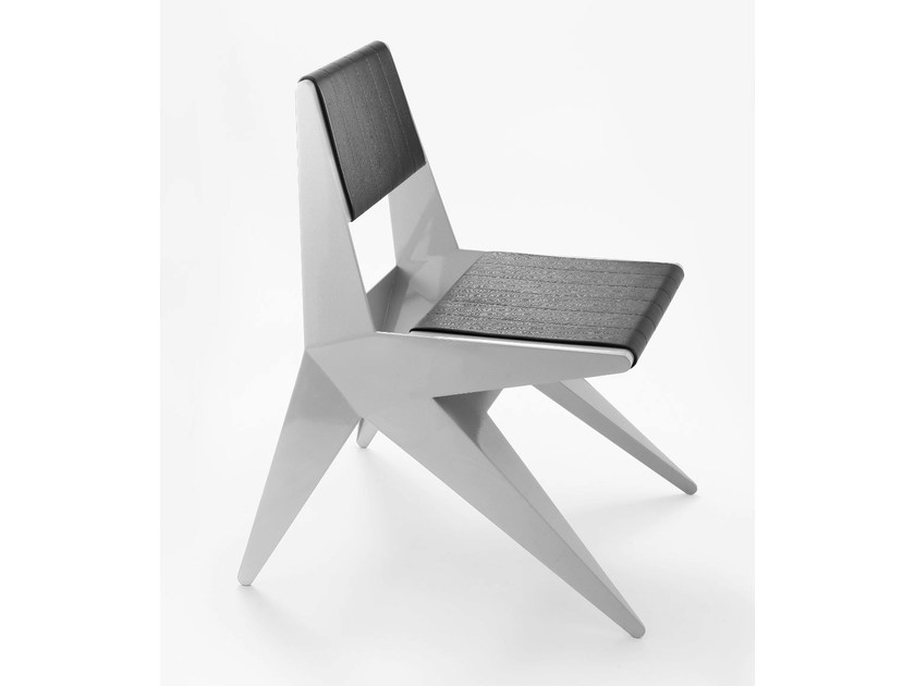 Upholstered aluminium chair STAR | Chair by Lamberti Design