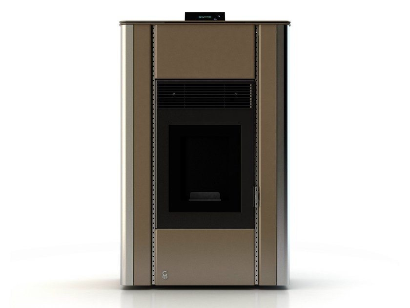 Pellet stove NUANCE ANODIC BRONZE by CAR-MET