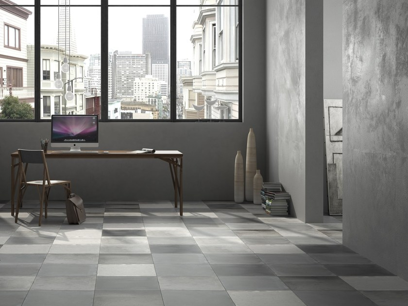 Porcelain stoneware flooring with concrete effect CHARLOTTE by FERRO SPAIN