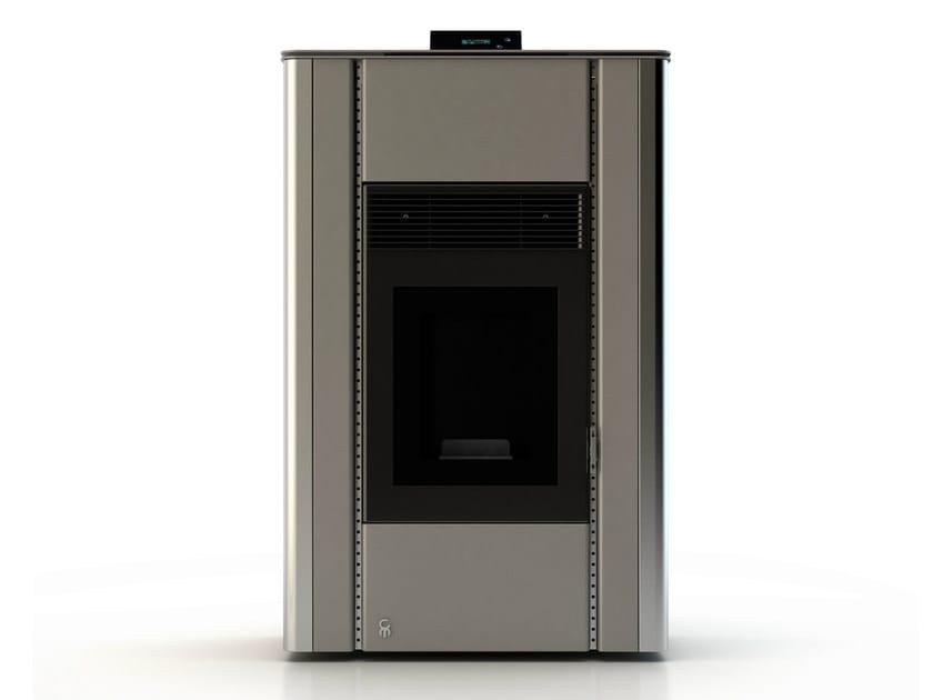 Pellet stove NUANCE RAL 9007 by CAR-MET