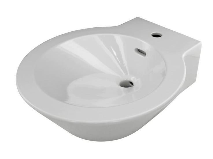 Round single wall-mounted washbasin MOOD   Washbasin by Noken