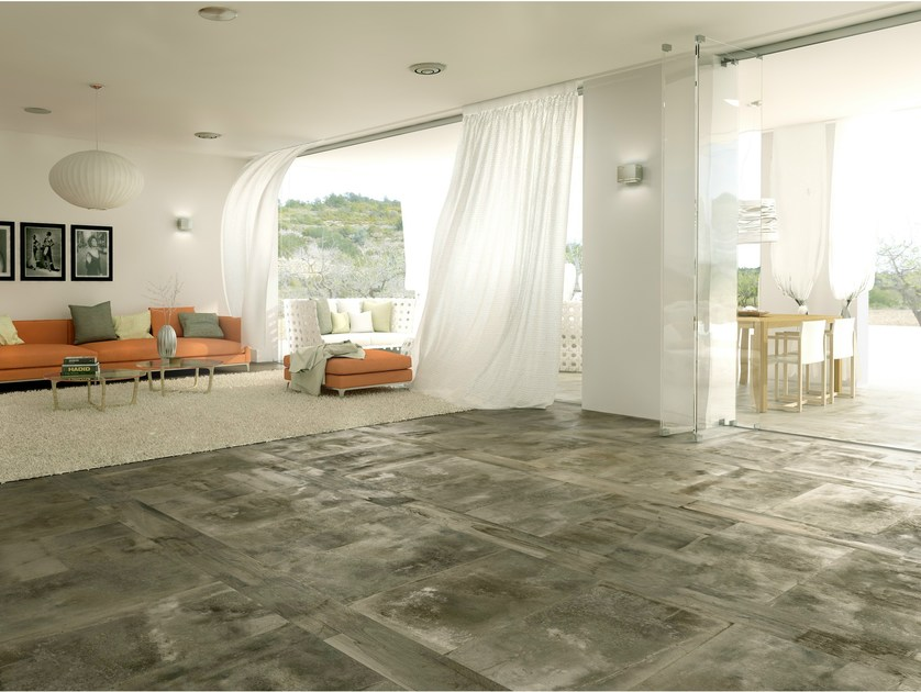 Porcelain stoneware flooring with wood effect MIXING by FERRO SPAIN