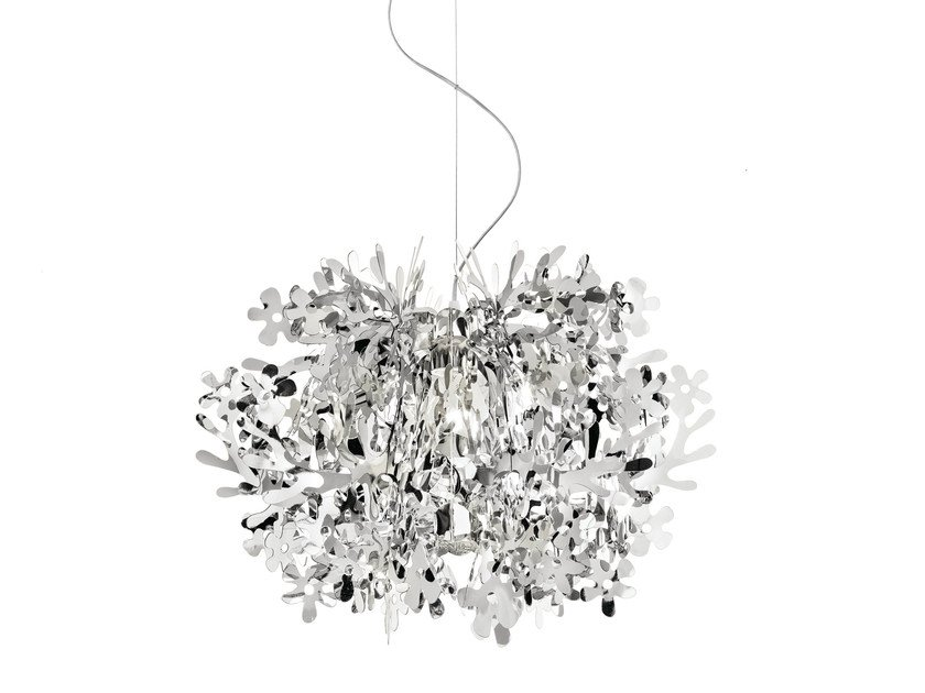 Steelflex® pendant lamp FIORELLA MINI SILVER by Slamp