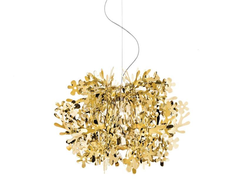 Goldflex® pendant lamp FIORELLA MINI GOLD by Slamp