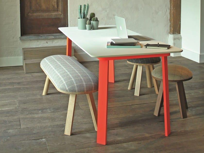 Aluminium table BuzziHub Table XL by BuzziSpace