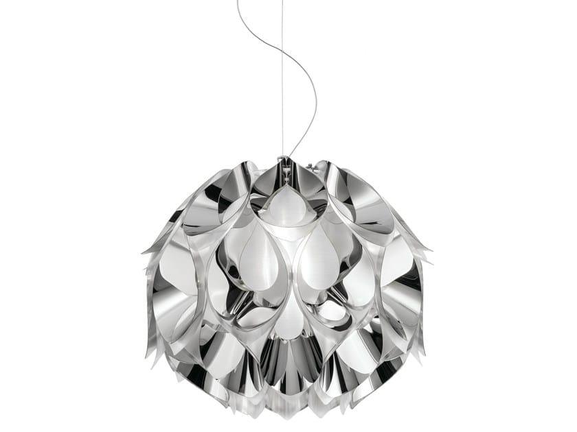 Indirect light Steelflex® pendant lamp FLORA MEDIUM SILVER by Slamp