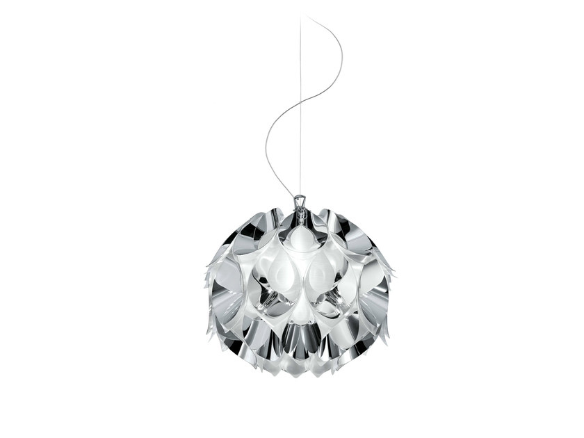 Indirect light Steelflex® pendant lamp FLORA SILVER by Slamp