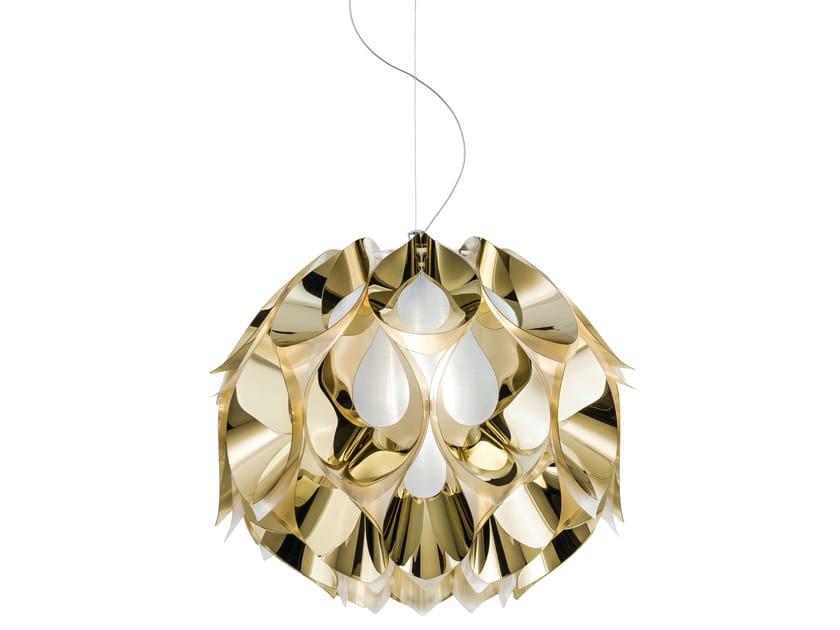 Indirect light Goldflex® pendant lamp FLORA MEDIUM GOLD by Slamp
