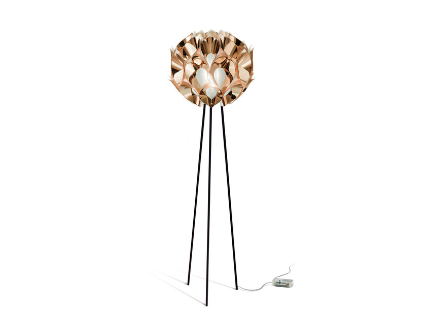 Indirect light Copperflex floor lamp FLORA FLOOR COPPER by Slamp