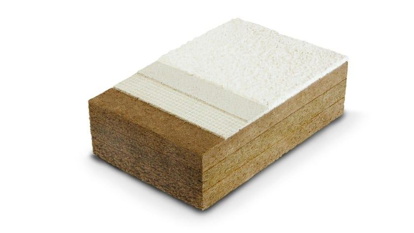 Wood fiber panels plastered FiberTherm Protect dry110 by BetonWood