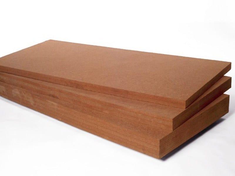 Panel wood fiber for extrados floors, roofs FiberTherm Roof® 200 by BetonWood