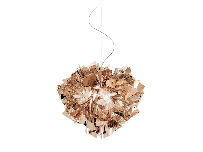 Lampada a sospensione in copperflex veli suspension copper by