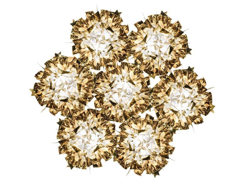 Goldflex® ceiling lamp VELI 7 GOLD by Slamp