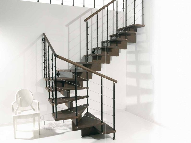 Stainless steel Open staircase SCENIK 040 | Open staircase by Fontanot