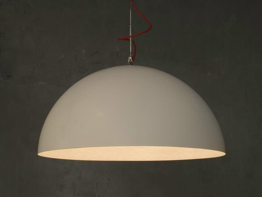 Direct light pendant lamp MEZZA LUNA 1 BIANCO by In-es.artdesign