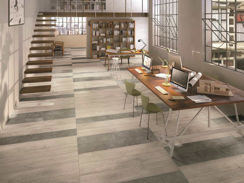 Porcelain stoneware flooring with wood effect SOUL PEARL by CERAMICHE KEOPE