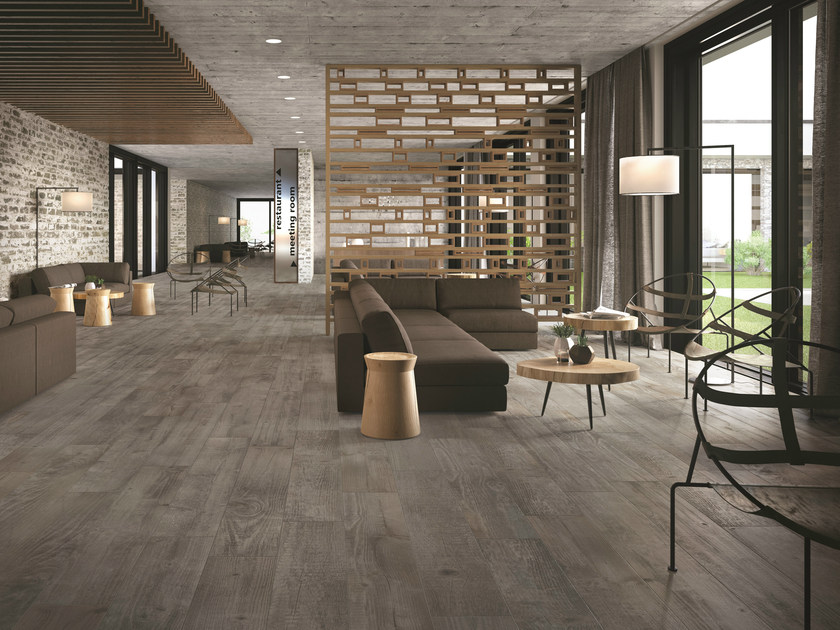 Porcelain stoneware flooring with wood effect SOUL GREY by CERAMICHE KEOPE