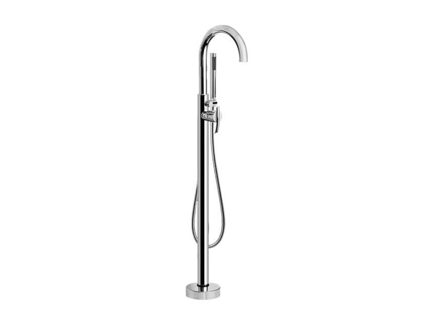 Floor standing bathtub tap with hand shower TRANQUILITY | Floor standing bathtub tap by Graff Europe West