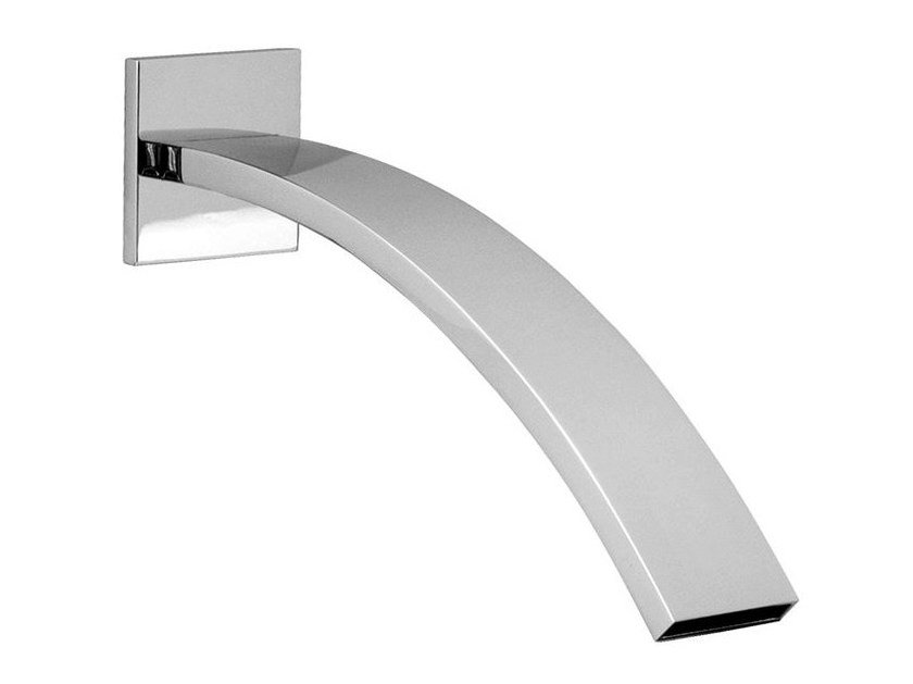 Chrome-plated wall-mounted spout IMAGINE | Spout by NOKEN