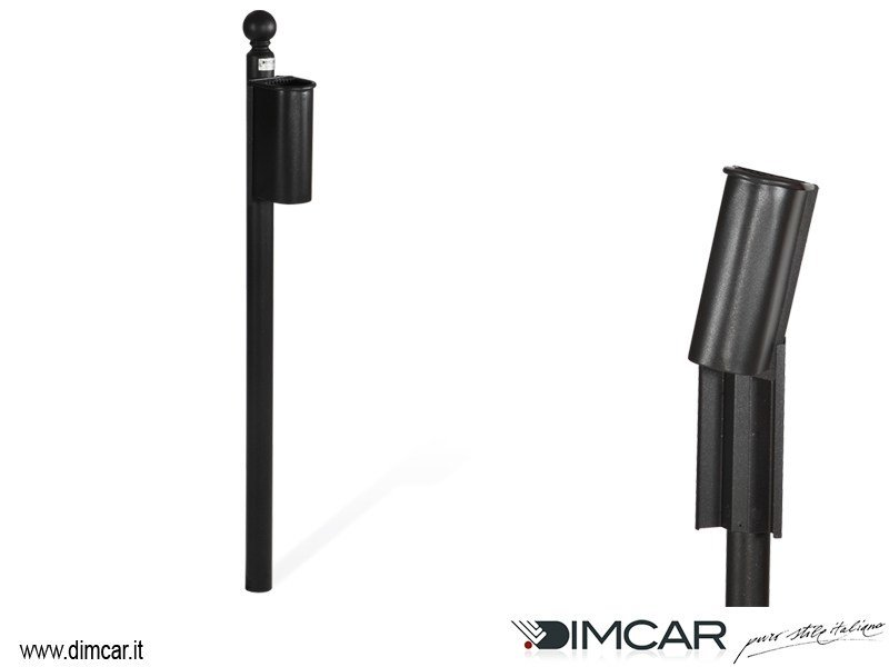 Metal ashtray Posacenere Cicco con colonnino by DIMCAR