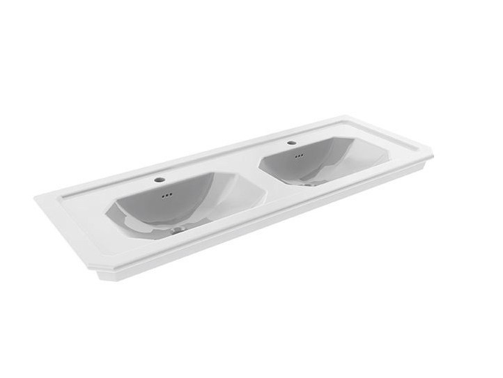 Console double washbasin with overflow IMAGINE | Double washbasin by NOKEN