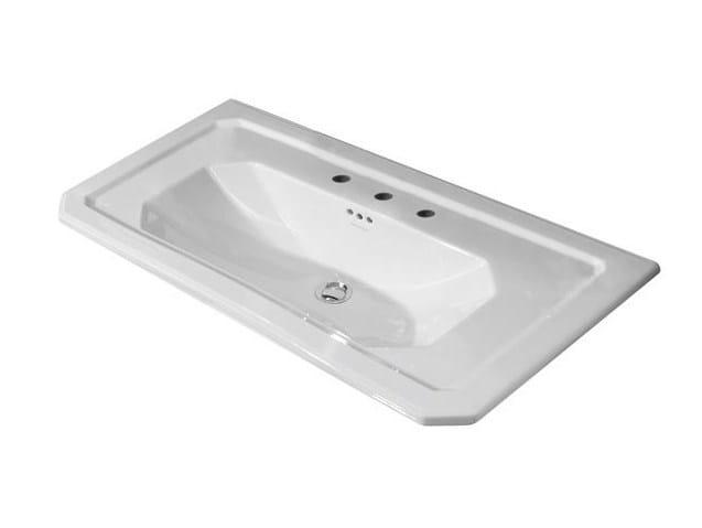 Console washbasin with overflow IMAGINE   Rectangular washbasin by NOKEN