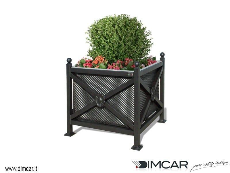 Metal Flower pot Fioriera Orchidea Midi pareti lam forata by DIMCAR