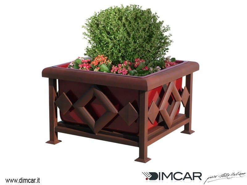 Metal Flower pot Fioriera Rubino by DIMCAR