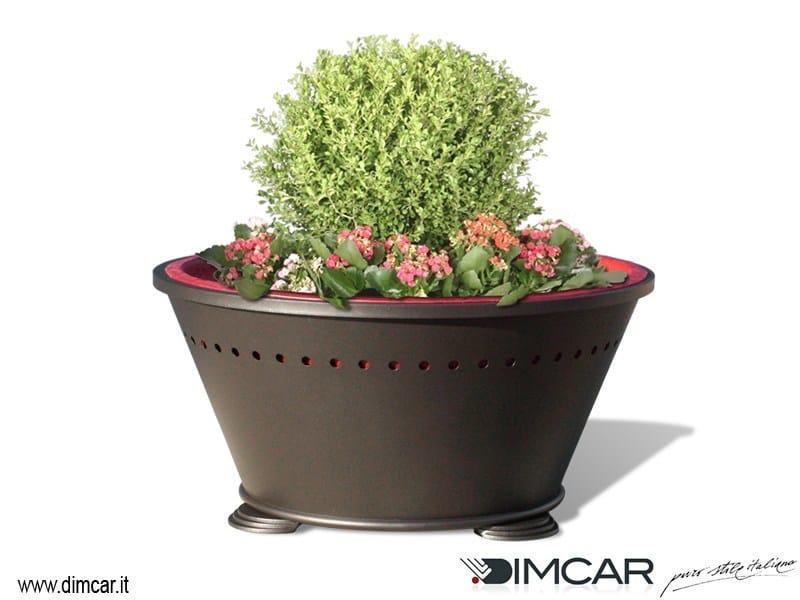 Metal Flower pot Fioriera Alba by DIMCAR