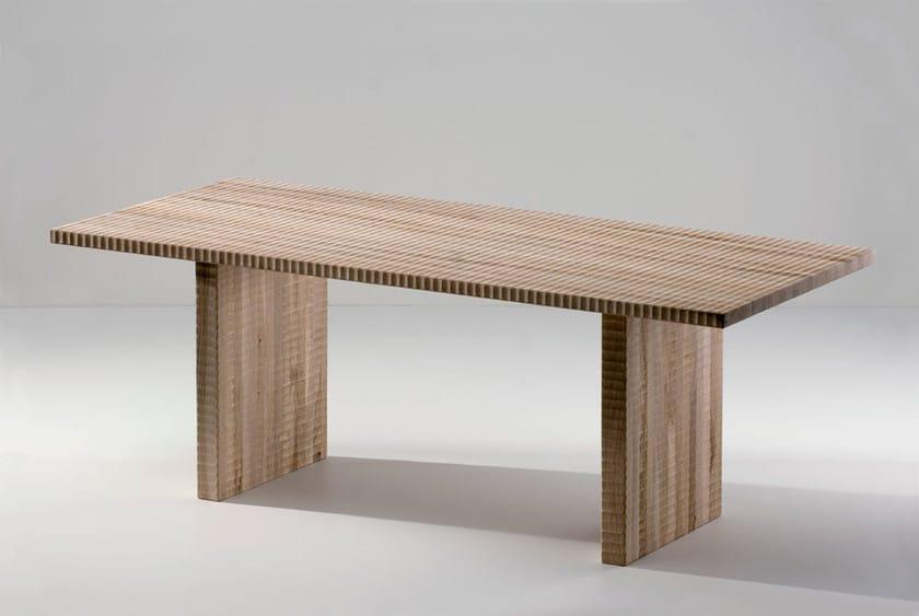 Rectangular walnut table PALESTRINA | Table by HABITO