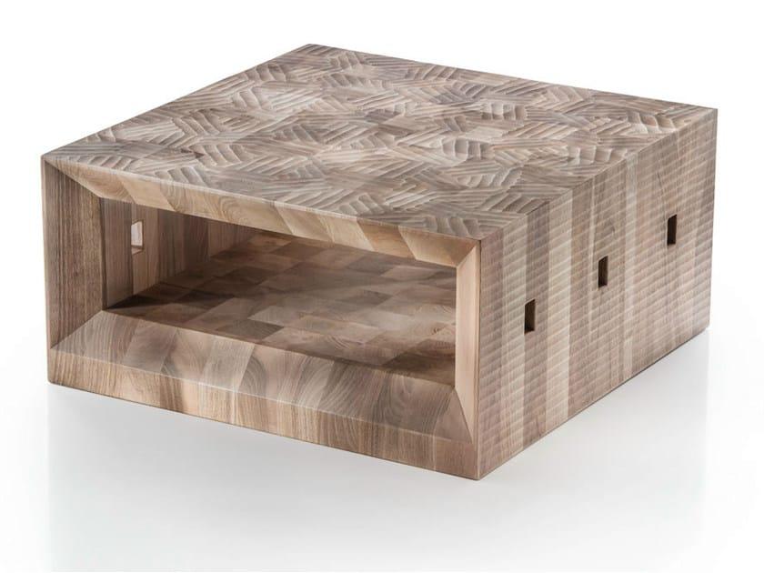 Square walnut coffee table AVILA by HABITO