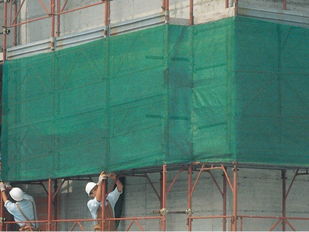 Scaffolding protection, sheet COVERET OC by TENAX