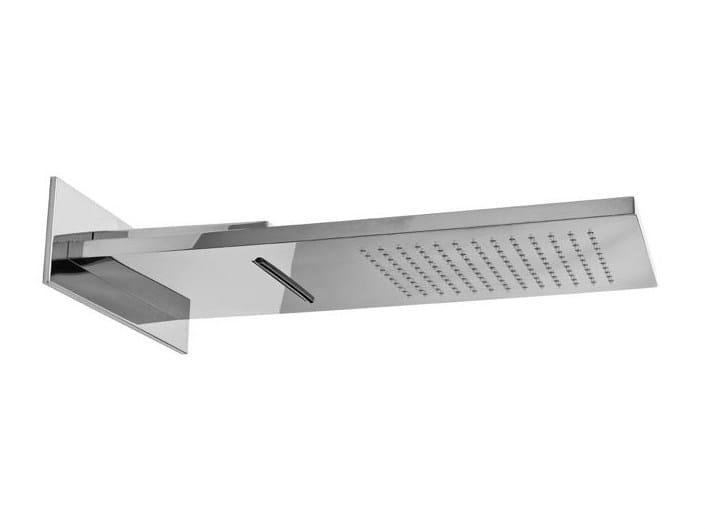 Wall Mounted Chrome Plated Steel Rain Shower AQUA SENSE | Chrome Plated  Overhead