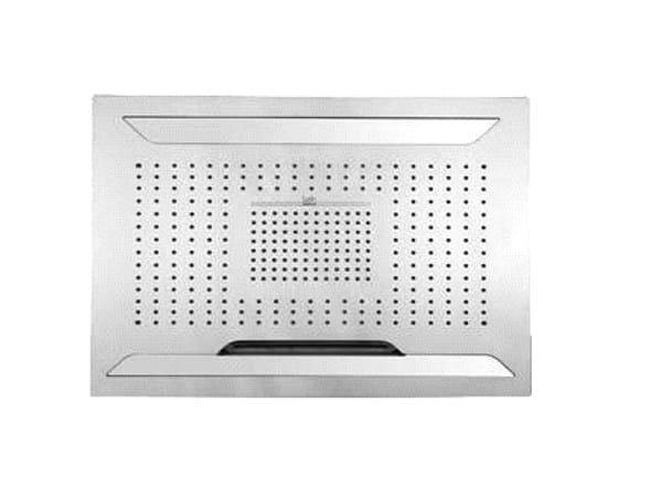 LED steel rain shower AQUA SENSE | LED overhead shower by Graff Europe West