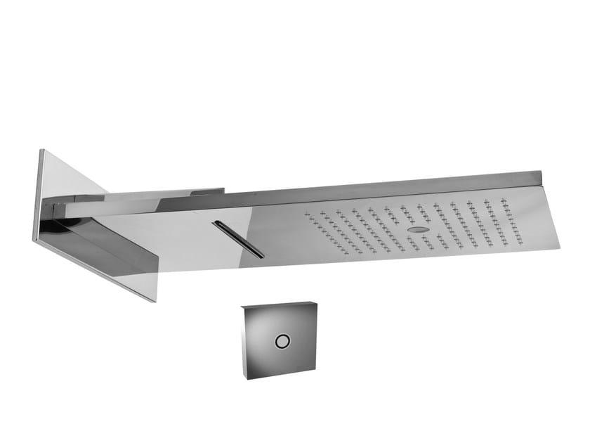 Wall-mounted steel rain shower AQUA SENSE | Steel overhead shower by Graff Europe West