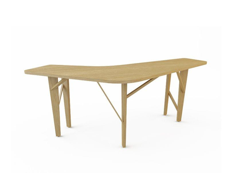 Wooden high table ROOM 26 BAR TABLE by Quinze & Milan