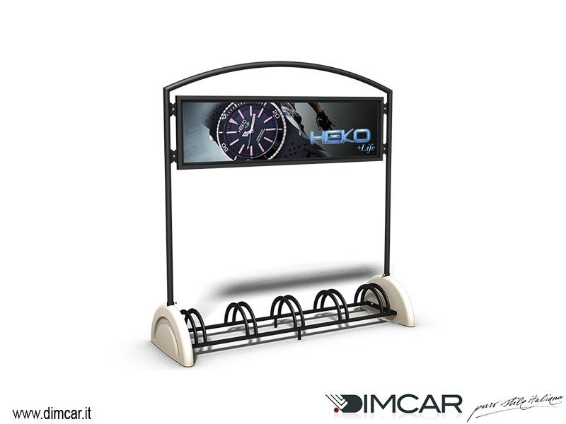 Metal Bicycle rack Pireo a 5 posti Display by DIMCAR