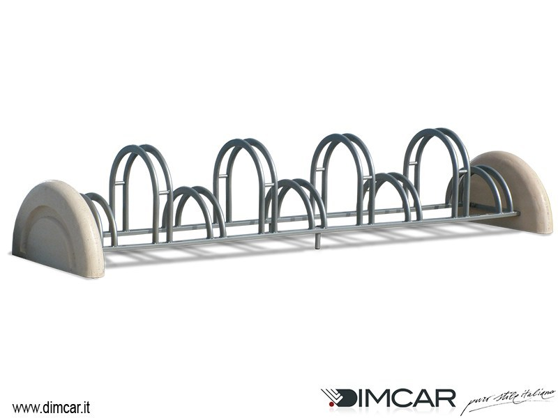 Metal Bicycle rack Portabici Pireo a 9 posti by DIMCAR