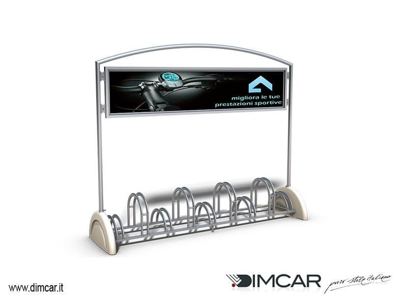 Metal Bicycle rack Portabici Pireo a 9 posti Display by DIMCAR