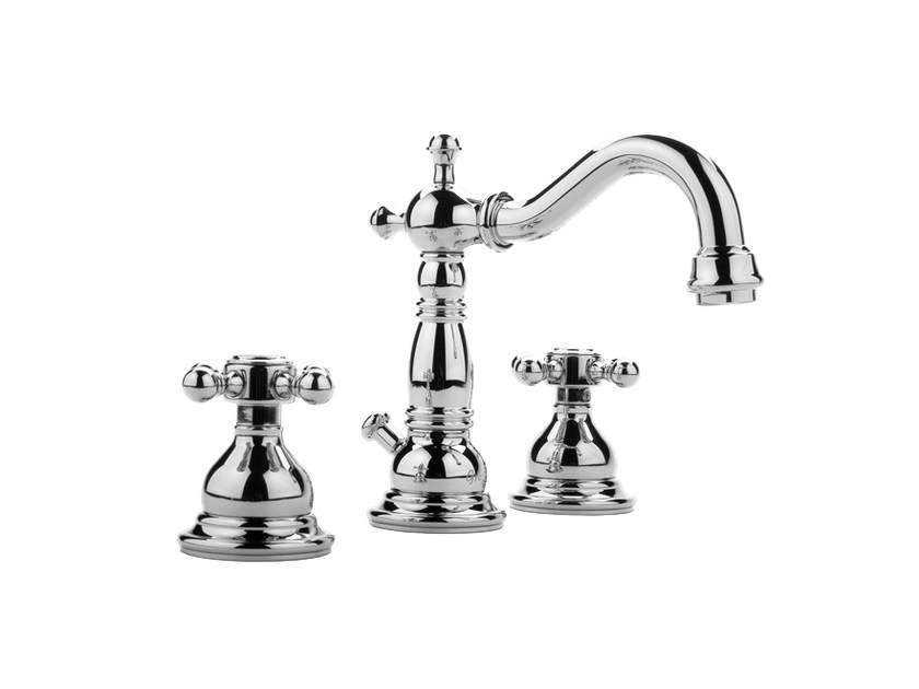 3 hole countertop washbasin tap NANTUCKET | Countertop washbasin tap by Graff Europe West