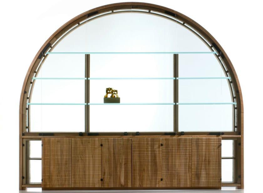 Walnut display cabinet GRANDE ARCO by HABITO