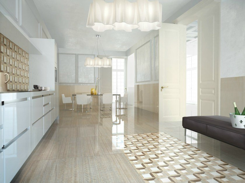 Porcelain stoneware wall/floor tiles with marble effect MARMOKER by Casalgrande Padana