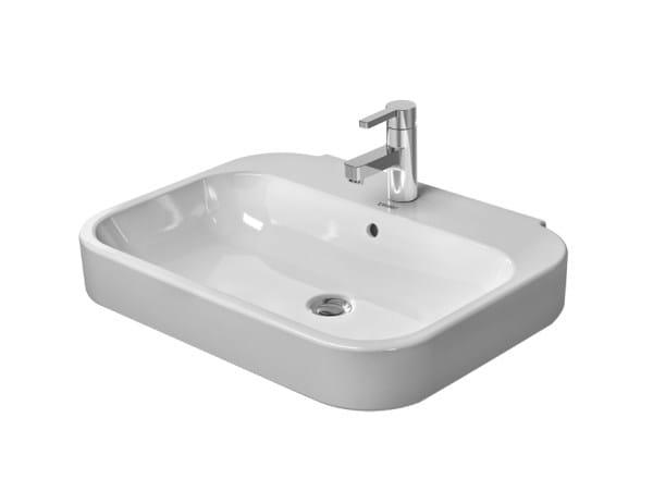 Ceramic washbasin with overflow HAPPY D.2 | Washbasin by Duravit