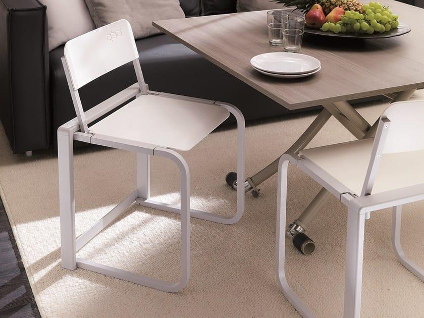 Folding polycarbonate chair TAK by Ozzio Italia