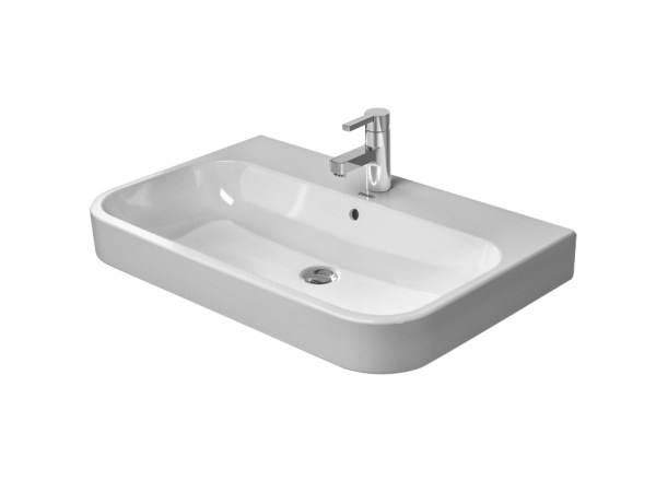 Rectangular ceramic washbasin with overflow HAPPY D.2   Washbasin with overflow by Duravit
