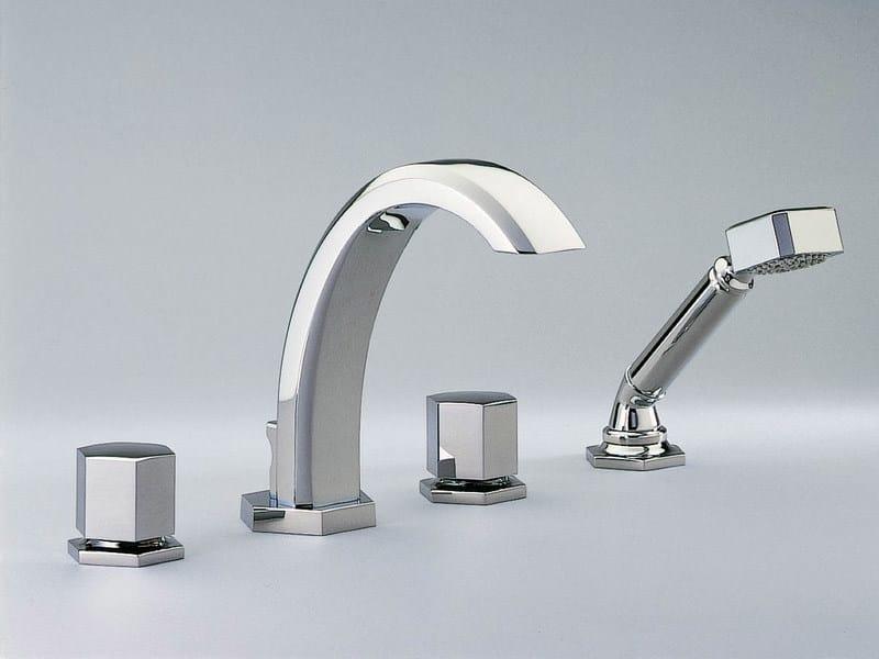 4 hole bathtub set with hand shower BEVERLEY | Bathtub set by INTERCONTACT