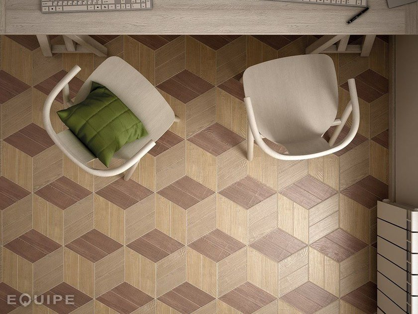 Porcelain stoneware wall/floor tiles with wood effect HEXAWOOD by EQUIPE CERAMICAS