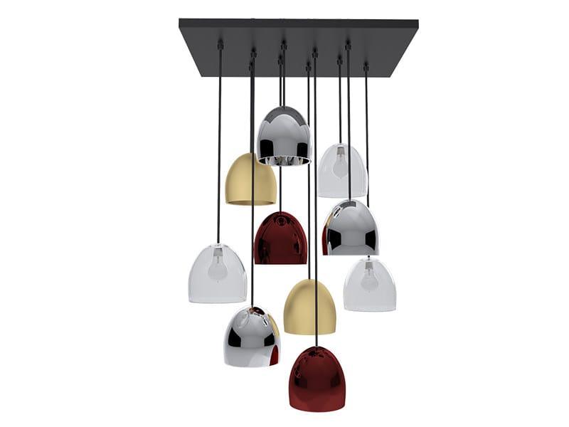 Blown glass pendant lamp BOMBARDA II | Pendant lamp by Creativemary
