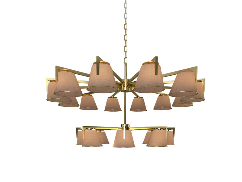 Brass pendant lamp SANTOS | Chandelier by Creativemary