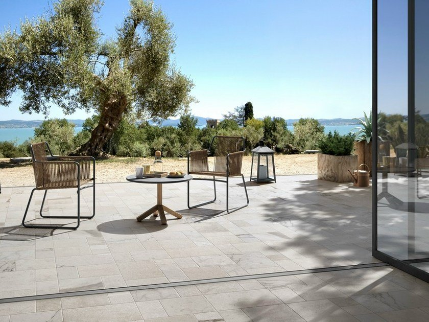 Porcelain stoneware outdoor floor tiles with stone effect HISTORIC by Ceramica d'Imola